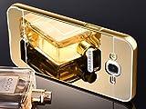 Rkmobiles Samsung Galaxy Grand 9082 Or Samsung Galaxy Grand Duos/Grand Neo/ Plus Metal Bumper Acrylic Mirror Back Cover Case-Gold
