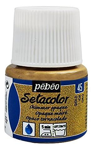 Pebeo Pebeo Setacolor Opaque Fabric Paint 45-Milliliter Bottle, Shimmer Gold,Shimmer