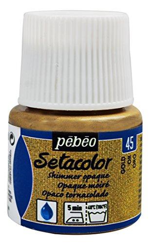 Pebeo - colore per stoffa setacolor opaco, flacone da 450 ml, colore: oro brillante