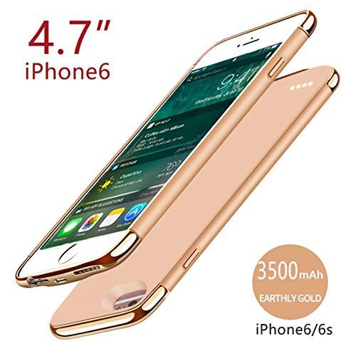 iPhone 6 iPhone 6s 4.7 inch 3500mAh Battery Akku Case Hülle Power Bank Schutzhülle Handyhülle Akkupack Wiederaufladbares externes mit Audioschutz Batterie Backcover Ladegerät Akku Smart Battery