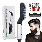 Pettine per barba pettine per uomini - Spazzolino per capelli elettrico rapido per raddrizzare Pettine per arricciacapelli multifunzionale