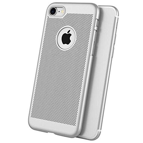 2-in-1 Cover iPhone 6/6s Plus Favo Anti-Surriscaldare Matte Custodia Bumper + Copertura Completa Pellicola Protettiva,JELLYEA 360° Ultra-Sottile Ultra-Leggera Anti-Graffio Case Caso per Apple6/6s Plus Argento