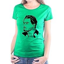 Mister Merchandise Camiseta para Mujer T-Shirt Leonardo DiCaprio