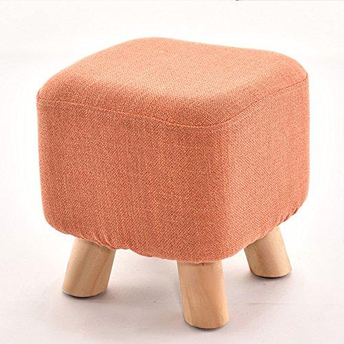 Dana Carrie Tabouret table basse en bois sur un tabouret bas creative élégant chaussures chaussures pour adultes et la mise en œuvre de l'accueil, des bancs banc canapé orange