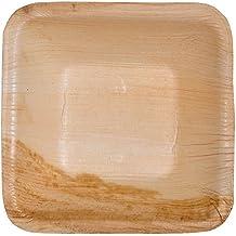 """Verde Atmos 25Pack–4""""cuadrado, fiesta/boda Salsa/cuenco de queso, biodegradables y compostables Eco-friendly platos desechables (Areca palma hojas"""