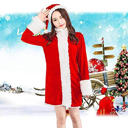 KAIDILA 2018 Weihnachten Kostüm Sexy Party Red Plüsch Fell Christmas Party Stage Kostüm Cosplay Weihnachten Zeichen