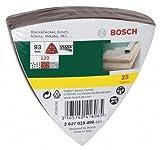 Bosch 2607017110 Set de 25 abrasifs pour Ponceuse Delta 93 mm Grain 240