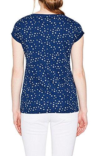 edc by ESPRIT Damen T-Shirt Blau (Ink 415)