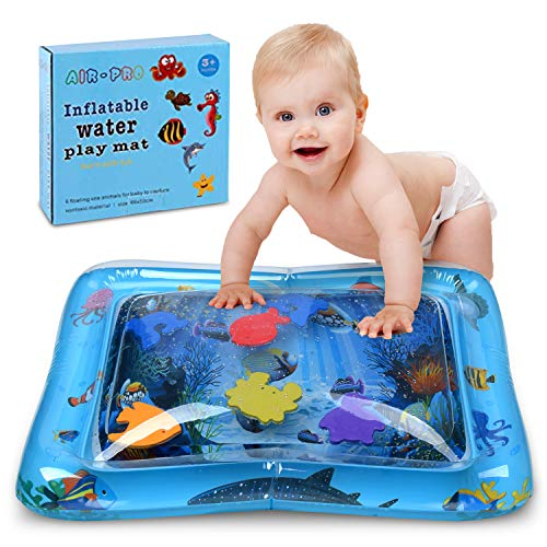 2d301c7a5a99c7 Inflatable Tummy Time Mat Water Play Mat for Infants & Toddlers Fun Play  Activity Baby Playmats