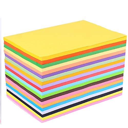 Buntes A4-Kopierpapier, 100 Blatt Recyclingpapier Diy Folding Art Tissue für Krepppapier 20 verschiedene Farben, mehr Spaß bei DIY Art Craft Crafting Dekorieren von zugeschnittenem Papier (20 * 30 cm)