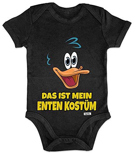 HARIZ Baby Body Kurzarm Das Ist Mein Enten Kostüm Karneval Kostüm Plus Geschenkkarte Pinguin Schwarz 3-6 Monate