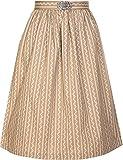 Damen Dirndlschürze mit Schnalle 68er Länge und 65er Länge NEU (XL, beige 68er Länge)