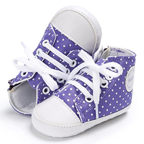 Baby Schuhe, Switchali Neugeborene Krippe Soft Sole Schuh Sneakers Lila