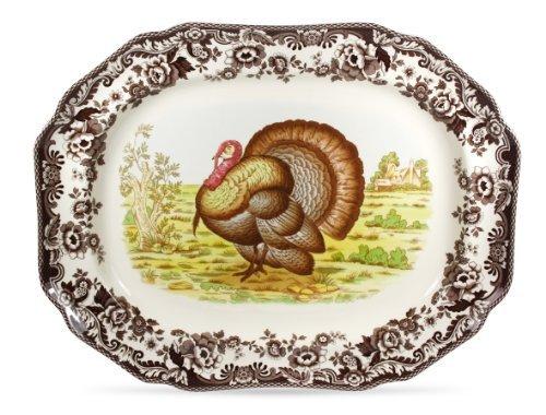 Spode Woodland Turkey (Spode Woodland Turkey Rectangular Platter by Spode)
