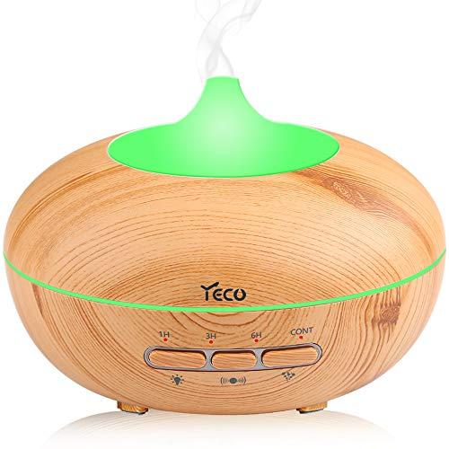 Difusor de Aroma, YECO Versión 2 Difusor de Aromaterapia de Aceite Esencial Humidificador de Niebla Fresca con Sensor Automático, 7 Luces LED de Color, Sin Agua Apagado Automáticamente para el Hogar, Yoga, Oficina,Mejor regalo del Festival de abril