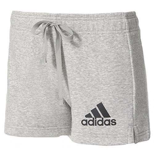 Adidas Ess Solid Pantaloni corti, donna, Donna, Ess Solid, gris (brgrin / negro), XL