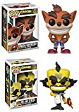 Funko POP! Crash Bandicoot: Crash Bandicoot + Dr. Neo Cortex - Stylized Video Game Vinyl Figure Set NEW
