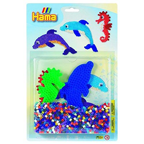 Hama Beads Dolphin & Seahorse Activity Kit
