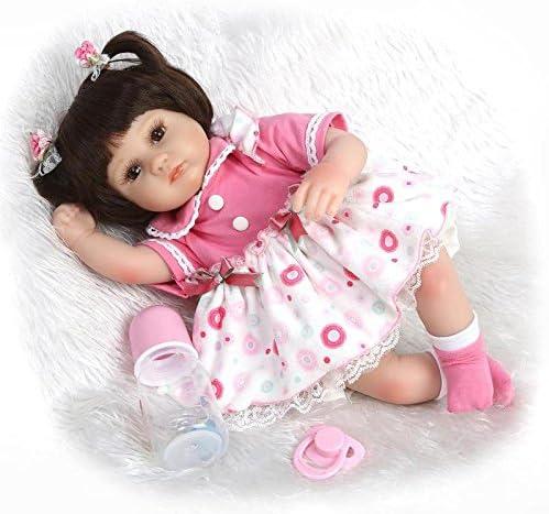 LIJUN 42cm Baby Réaliste Silicone Reborn Baby 42cm Doll Realistic Magnetic  Mouth Newborn Baby Dolls Jouets cbf341c26be