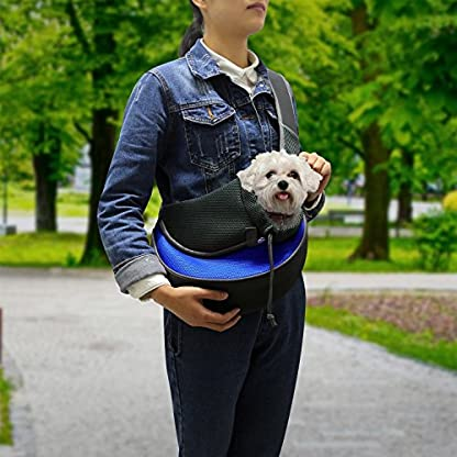 GPCT Pet Puppy Carrier Sling Hands-Free Shoulder Travel Bag. Great For Walking Your Pet. Dog Cat Pet Puppy Outdoor… 2