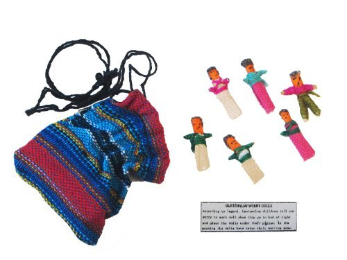 Worry Dolls in a Bag by Maya Traditions - Guatemala
