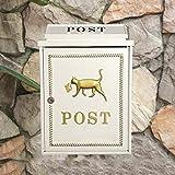 CJH Europäische Mode Nette Briefkasten an der Wand befestigte Briefkasten-Gemeinschaftsbriefkasten-Briefkasten-Briefkasten-Landhaus-Buchstabe-Weiß