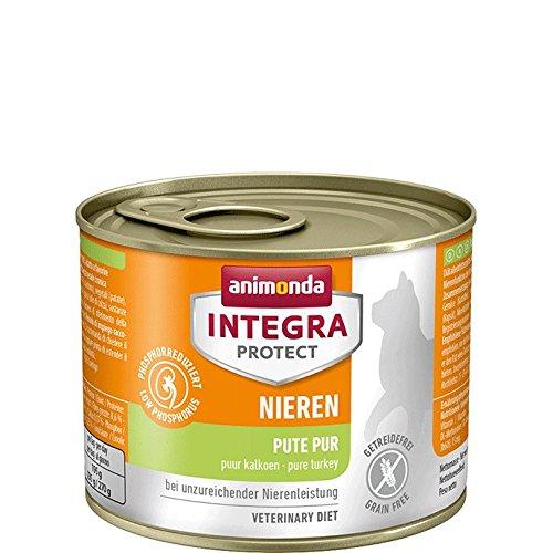 Geschmack Diät (animonda Integra Protect Nieren mit Pute | Diät Katzenfutter | Nassfutter bei chronischer Niereninsuffizienz (6 x 200 g))