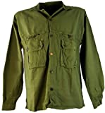 Guru-Shop Hemd Kathmandu, Hippie, Goa Hemd, Herren, Olive, Baumwolle, Size:XL, Männerhemden Alternative Bekleidung