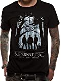 Absolute Cult Supernatural Herren Group Outline T-Shirt Schwarz Large