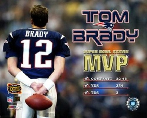 The Poster Corp Tom Brady - Supert Bowl XXXVIII MVP Photo Print (40,64 x 50,80 cm) -
