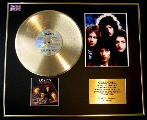 QUEEN/CD Disco de Oro/Disco & Foto Display/Edicion LTD/Certificato di autenticità/GREATEST HITS