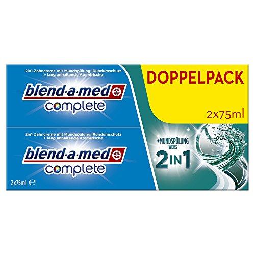 Blend-a-med Complete 2in1 plus Mundspülung Weiß Zahncreme, 150 ml