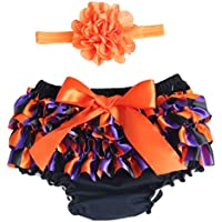 FENICAL Baby Girl Ruffle Lace Pure Cotton Panties Pañal Calzoncillos Cubierta para Halloween Party Favors Talla M
