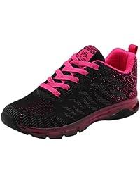 Logobeing Zapatillas de Deporte con Cojines de Aire Calzado de Running Net para Estudiante Volar Zapatos Tejidos Zapatillas Deportivas…