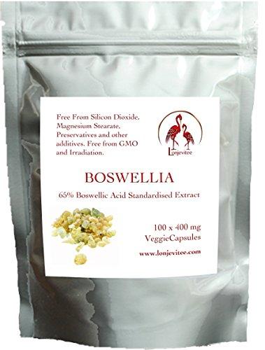 Lonjevitee Boswellia Serrata Vegetarian Capsules, 100 x 400mg