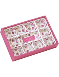 STACKERS 'JUNIOR' Pink 11 Section STACKER Jewelry Box with Cupcake Lining