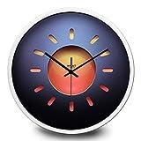Orologio da parete Frosted Soggiorno Camera da letto della decorazione della parete decorazione domestica moderna orologio al quarzo nero Pin telaio in metallo 12 IN ( Color : White )