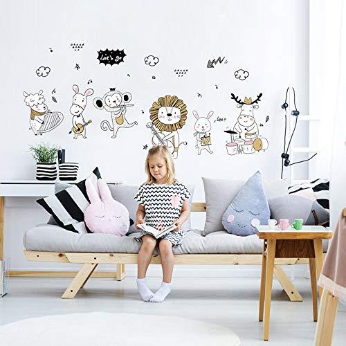 Coloré(TM) Jungle sauvage animaux sticker mural sticker pour bébé Enfants Chambre WallPaper