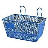 waysad Cestino della Bicicletta Cestello per Bicicletta Comodo e Staccabile per Bambini Metal Blue Basket Cesh Reinforcement Bici per Bicicletta Universale