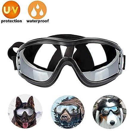 Lvozize Dog Goggles – Hunde Sonnenbrille Haustier Sonnenbrille Wasserdicht Winddicht UV-Schutz Augenschutz für das…