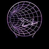 SHJDY Trou Noir D'Avion-Petite Veilleuse,Lampe De Sommeil 3D,Flash Led,Télécommande,Alimentation Usb,Adapté À La Décoration De La Chambre,Cadeau Pour Les Enfants...