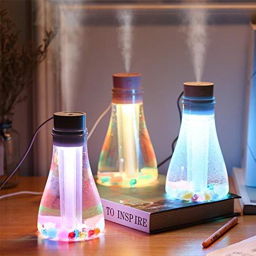 Luftbefeuchter ultraschall vernebler Aroma Diffuser Nachtlicht, Wunschflasche, Luftbefeuchter@Pulver - Regelmäßige Aroma-pulver