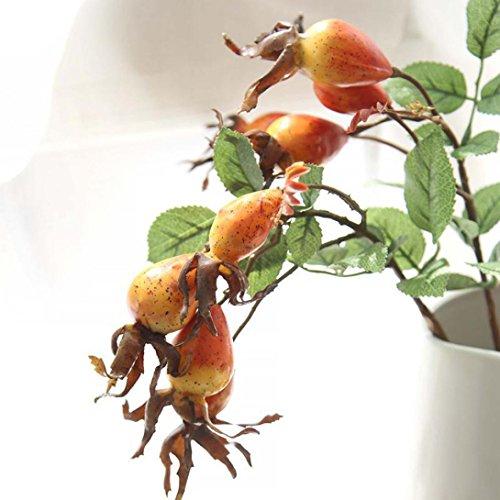 Ouneed® Fake Künstliche Rose Frucht Granatapfel Beeren Blumenstrauß Floral Garden Home Decor Christmas (Orange)