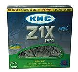 KMC Z1X Inox (Edelstahl) 1-Fach Kette // 112 Glieder, Dimension:1/2×1/8´´, Ausführung:Silber