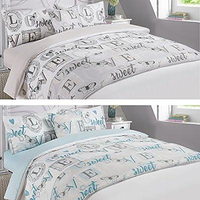 Dreamscene Complete Duvet Cover with Pillowcase Bedding Set Runner Sheet Love Sweet Love
