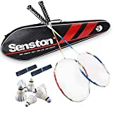Senston Graphit Badminton Set Carbon Badmintonschläger Badminton Schläger Set