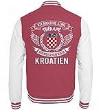 Hochwertige College Sweatjacke - Kroatien Shirt/Ich Brauche Keine Therapie ich muss nur nach Kroatien/Hrvatska