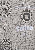 Vliestapete Kaffeebohnen Coffee Cupcakes kieselgrau braun Küchentapete 18481