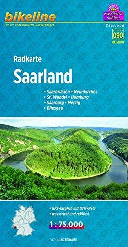 Saarland cycle map GPS r/v wp por Bikeline
