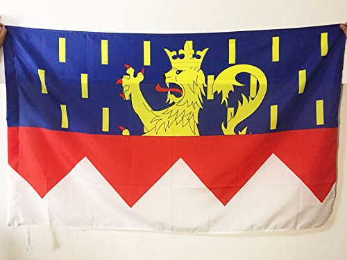 AZ FLAG Flagge DÉPARTEMENT Jura 90x60cm - Jura Fahne 60 x 90 cm Scheide für Mast - flaggen Top Qualität